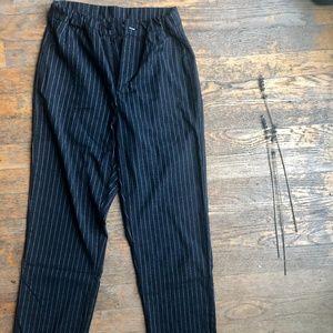 Fitting Black Striped Pants
